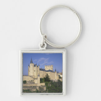 Alcazar, Segovia, Castile Leon, Spain Silver-Colored Square Keychain