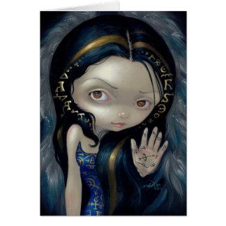 """Alchemical Angel V"" Greeting Card"