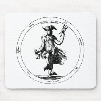 Alchemical Mercury and Caduceus Mouse Pad