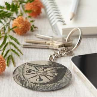 Alchemical Moon Phases Basic Round Button Keychain