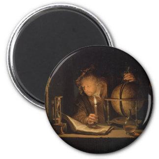 Alchemist Philosopher Reading 2 Inch Round Magnet