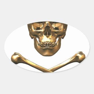 Alchemist's Skull and Bones Oval Sticker