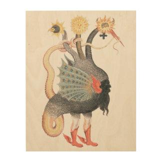 Alchemy Dragon Color Wood Print