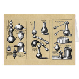 Alchemy Lab Beakers and Tools Greeting Card