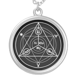Alchemy manifesto silver plated necklace