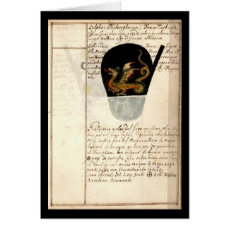 Alchemy Notebook By Johann Grasshoff 1620 Plate 12 Card