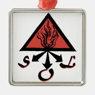 Alchemy Sol Silver-Colored Square Ornament