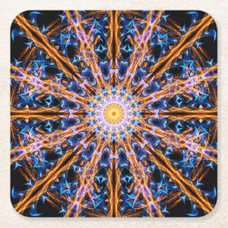Alchemy Star Mandala Square Paper Coaster