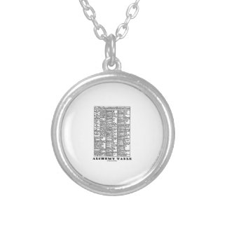 Alchemy Table (Medieval Chemistry Symbols) Silver Plated Necklace