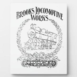 Alco - Brooks Locomotive Works Logo 1899 Plaque