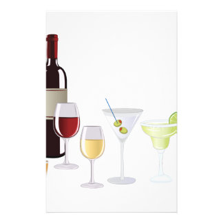 Alcohol Drinks Stationery Design