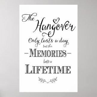 Alcohol HANGOVER bar wedding print