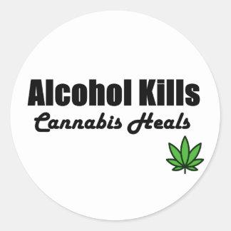 Alcohol Kills Cannabis Heals Stickers