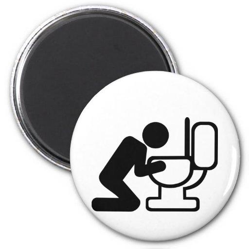 Alcohol puke toilet magnet