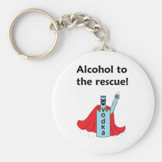 Alcohol to the Rescue Key Chain