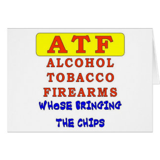 ALCOHOL TOBACCO FIREARMS CARD