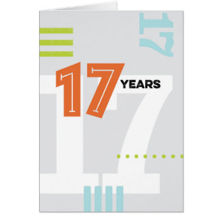 Alcoholic Anniversary Card: 17 Years Card