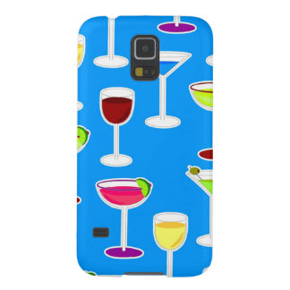 Alcoholic Beverages Cocktail Party Print - Blue Galaxy S5 Covers
