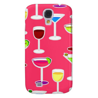 Alcoholic Beverages Cocktail Party Print - Pink