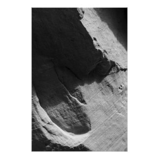 Alcove Sandstone Black and White Photo Poster