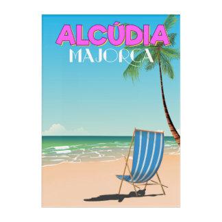 Alcúdia Majorca beach travel poster Acrylic Wall Art