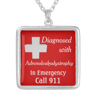 ALD Adrenoleukodystrophy Diagnosed Silver Plated Necklace