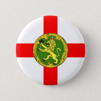 Alderney flag Guernsey symbol british 2 Inch Round Button