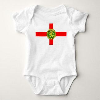 Alderney flag Guernsey symbol british Baby Bodysuit