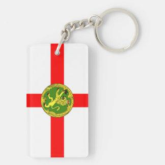 Alderney flag Guernsey symbol british Keychain