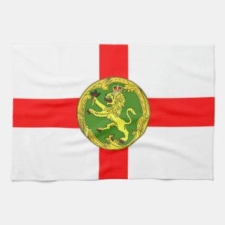 Alderney flag Guernsey symbol british Kitchen Towels