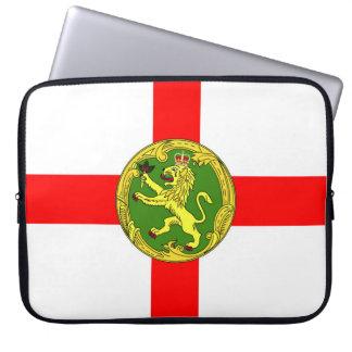 Alderney flag Guernsey symbol british Laptop Sleeve
