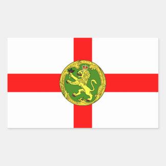 Alderney flag Guernsey symbol british Sticker