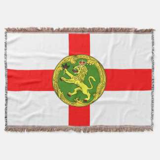 Alderney flag Guernsey symbol british Throw Blanket