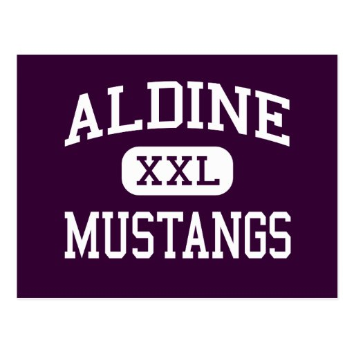Aldine - Mustangs - Senior - Houston Texas Post Card