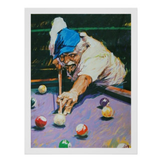 Aldo Luongo Billiards Poster