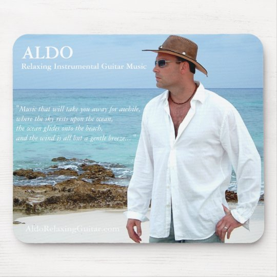 ALDO Relaxing Guitar Music Beach Vibe Mousepad