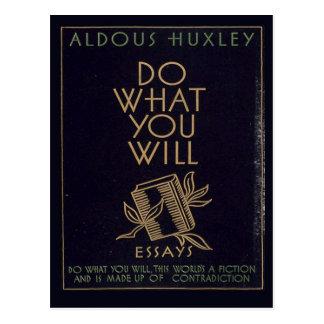 Aldous Huxley Book Postcard