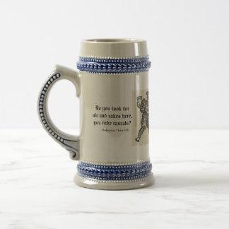 Ale Cakes, rude rascals -Shakespeare / woodcut mug
