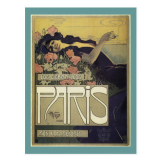 Aleardo Villa Paris Art Nouveau Postcard