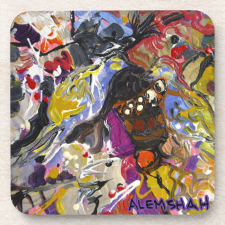 Alemshah Abstract Coaster Set - Blue Jay
