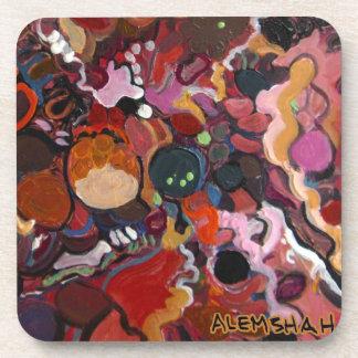 Alemshah Abstract Coaster Set - Flamingo