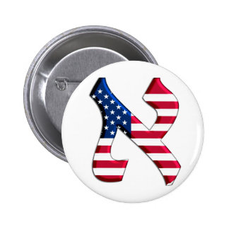 Aleph Usa.png 2 Inch Round Button