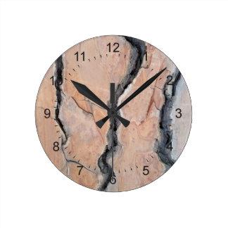 Aleppo pine wall clock