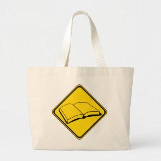 Alert: Books Ahead! Jumbo Tote Bag