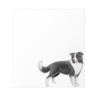 Alert Border Collie Dog Notepad