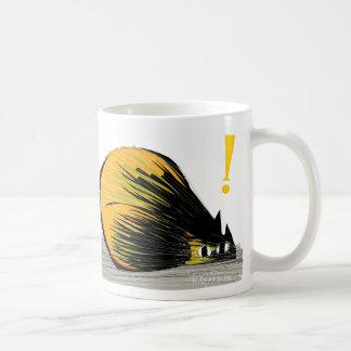 Alert cat basic white mug