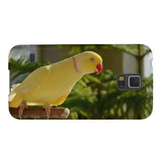 Alert Lutino Indian Ringneck Galaxy S5 Cases