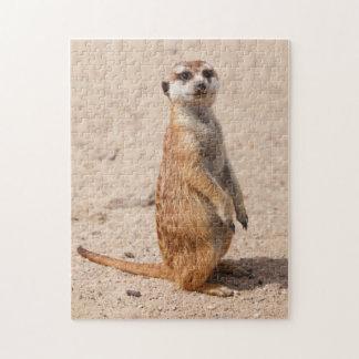 Alert Meerkat Standing Jigsaw Puzzle
