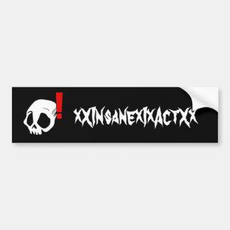 Alert Skull Bumper Sticker