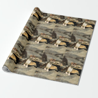 Alert Weasel Wrapping Paper